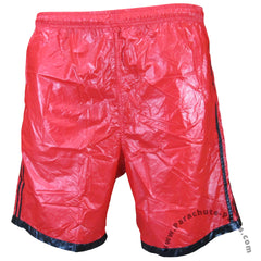 Bruno Red 3-Stripe Nylon Shorts