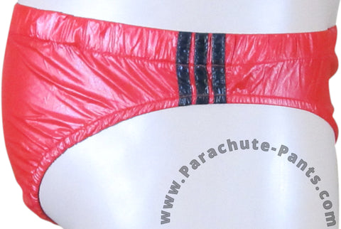 Bruno Red Shiny Plastic Nylon Underwear Shorts
