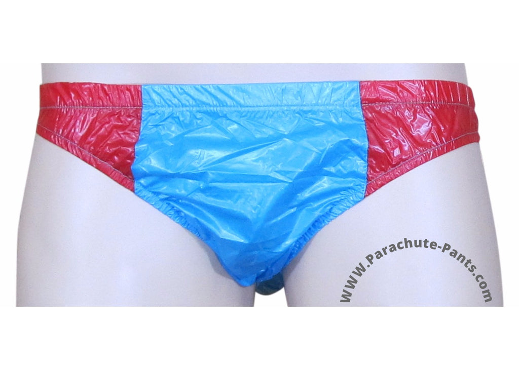Bruno Blue/Red Shiny Plastic Nylon Underwear Shorts