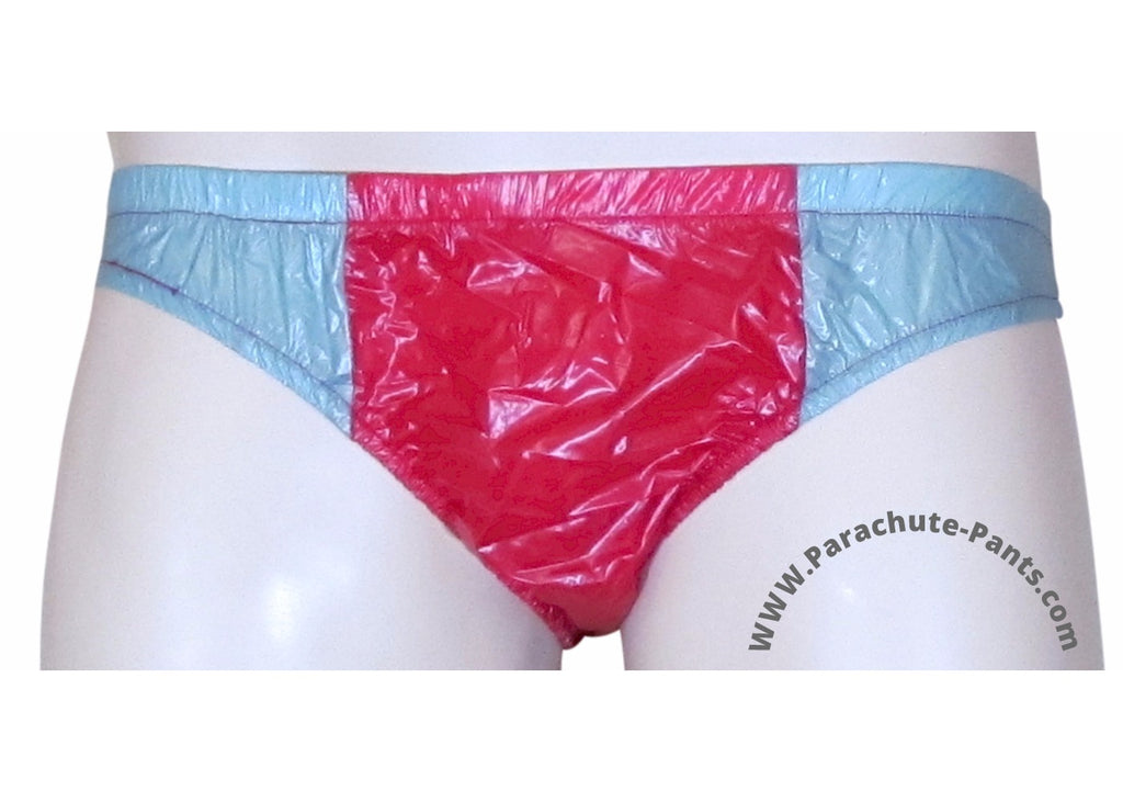Bruno Red/Grey Shiny Plastic Nylon Underwear Shorts