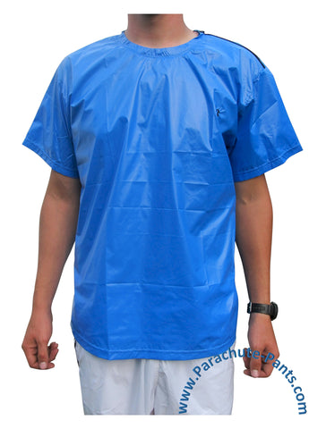 Bruno Solid Blue Nylon T-Shirt