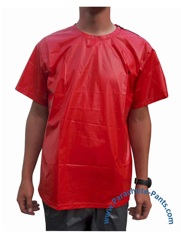 Bruno Solid Red Nylon T-Shirt
