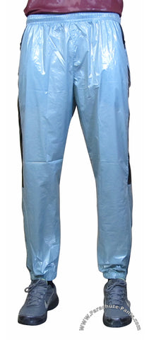 Bruno Grey Shiny Nylon/Plastic Wind Pants