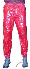 Bruno Red Shiny Nylon/Plastic Wind Pants