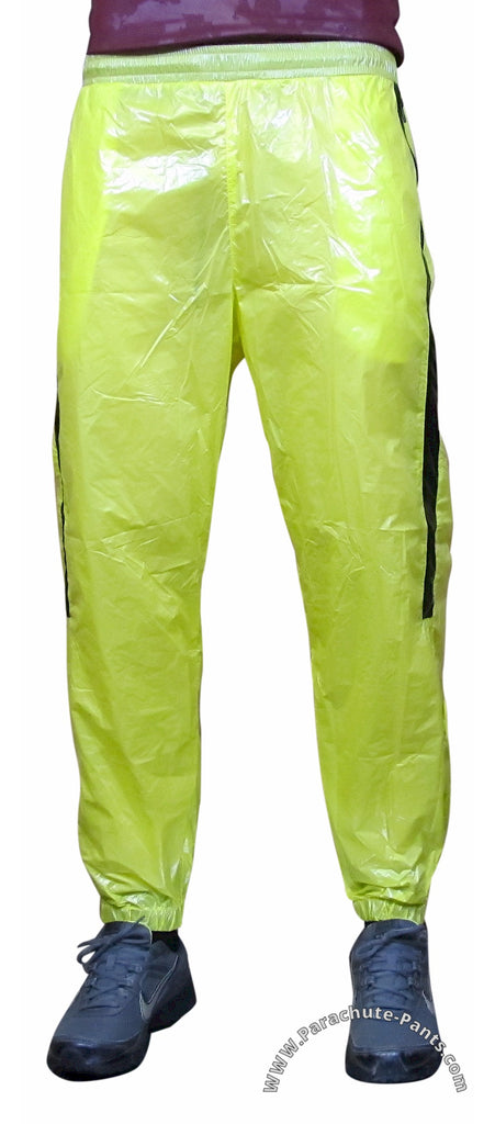 Bruno Yellow Shiny Nylon/Plastic Wind Pants