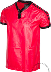 Bruno Red 3-Stripe Plastic Nylon T-Shirt