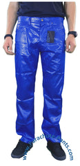 Countdown Blue Shiny Nylon 5-Button Jeans