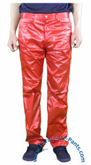 Countdown Red Shiny Nylon 5-Button Jeans