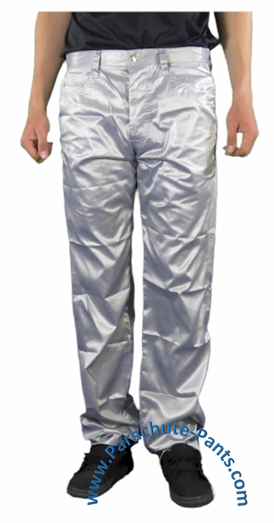 Countdown Silver Shiny Nylon 5-Button Jeans