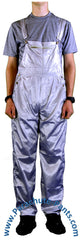 Countdown Light Grey Shiny Nylon Coveralls