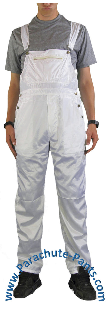 Countdown White Shiny Nylon Coveralls