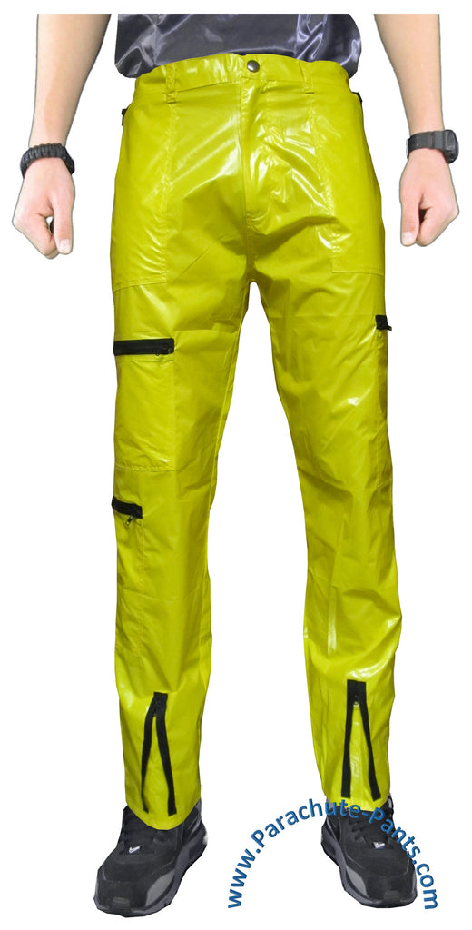 Countdown Yellow Shiny Nylon/Plastic Parachute Pants