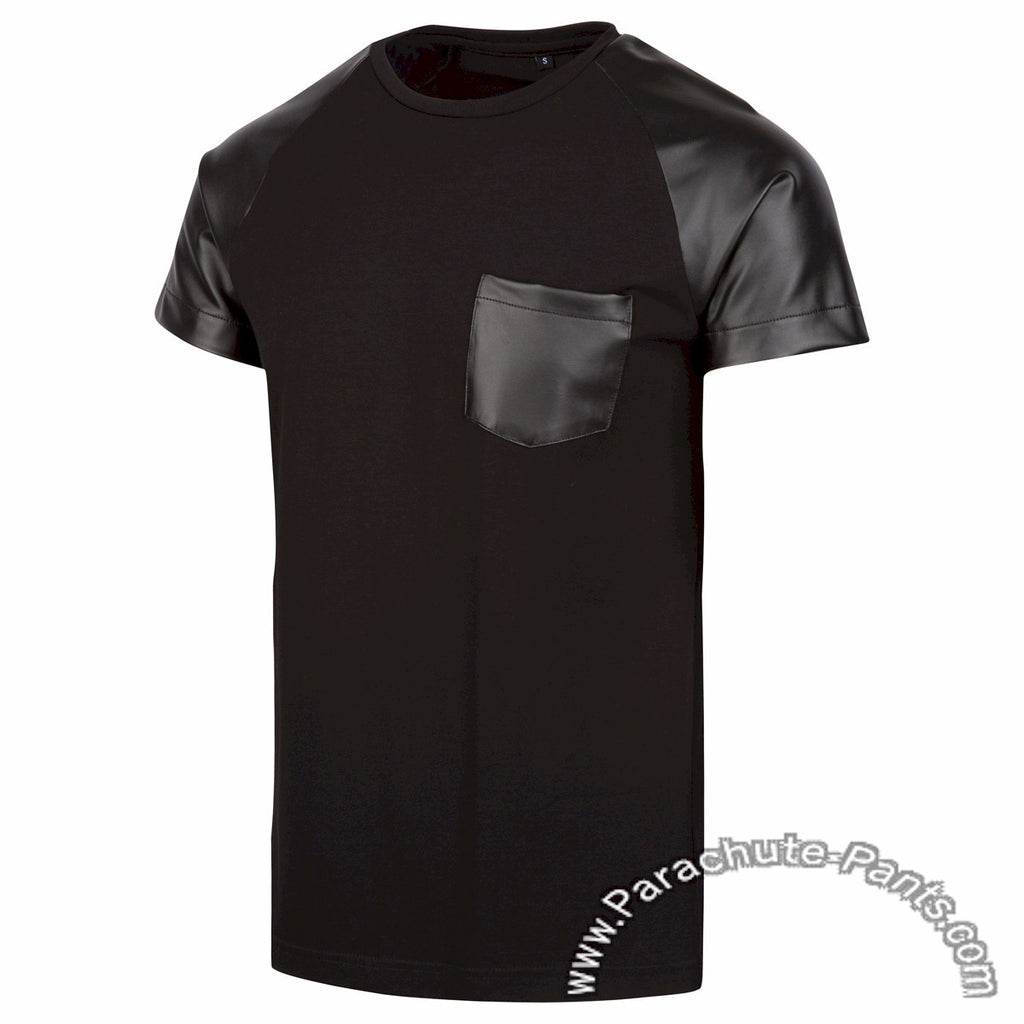 Level 9 Black Faux Leather T-Shirt