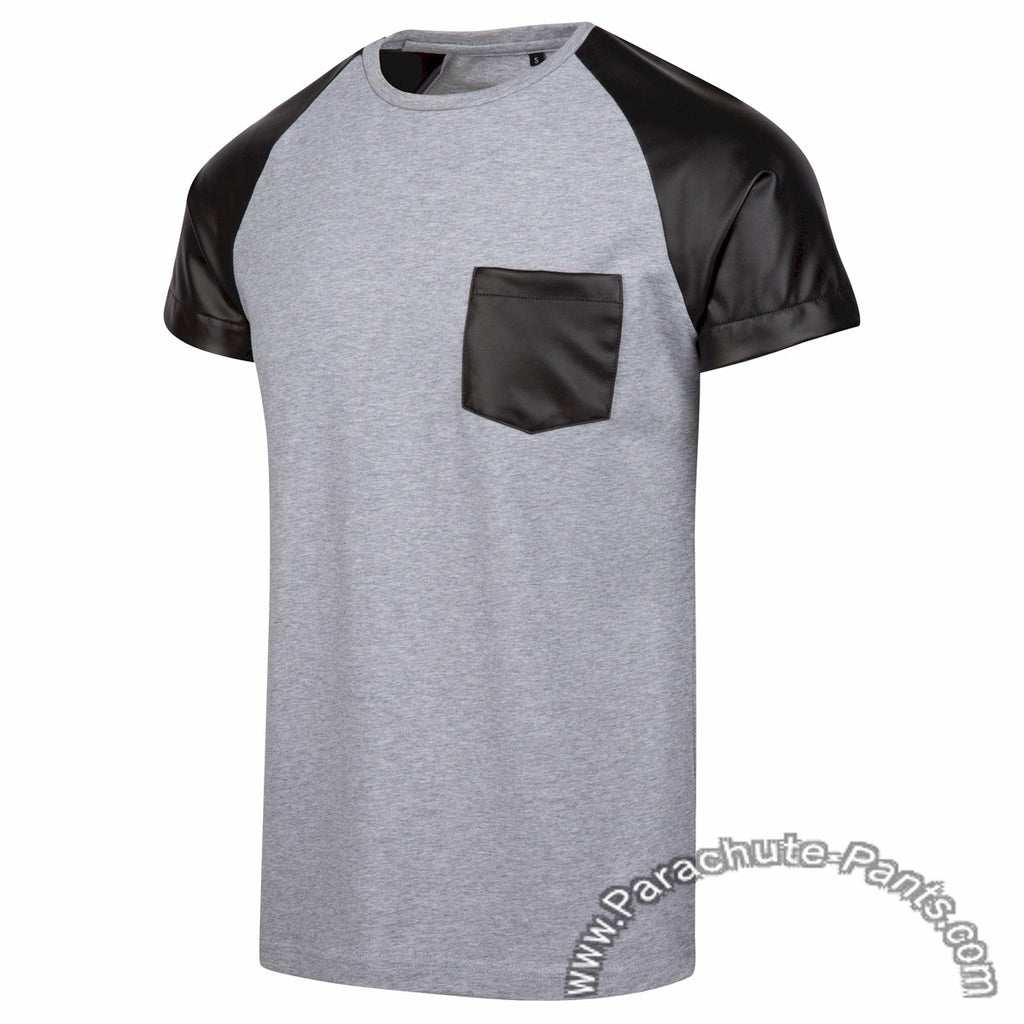 Level 9 Grey Faux Leather T-Shirt