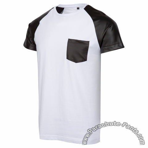 Level 9 White Faux Leather T-Shirt