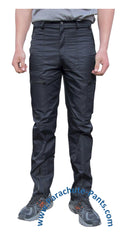 Countdown Black Classic Nylon Parachute Pants with Black Zippers