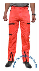 Countdown Classic Neon Red Classic Nylon Parachute Pants