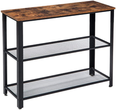 Jomtien Console Table 2 Shelf Black & Brown | BUY FROM CONSOLE TABLES UK | FREE DELIVERY UK MAINLAND
