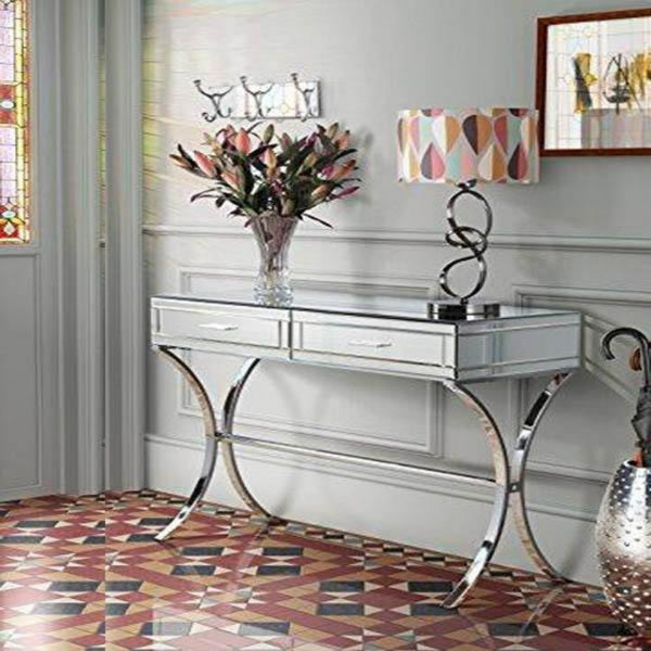 Aura Mirrored Console Table