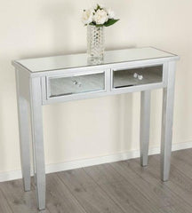 Celia Mirrored Console Table With 2 Drawers | CONSOLE TABLES UK
