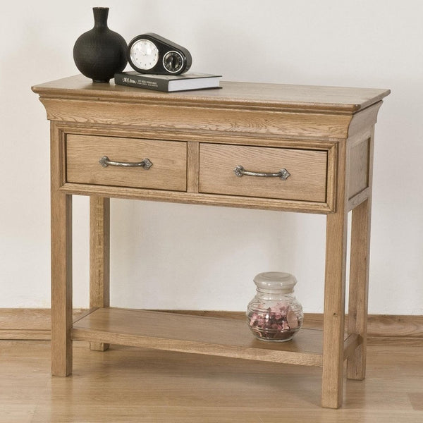 French Style Solid Oak Console Table
