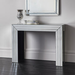 Bevelled Mirrored Console Table
