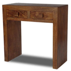 Panama Dark Mango Wood Console Table With 2 Drawers | CONSOLE TABLES UK