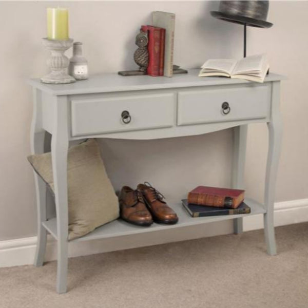 Darlene Wooden Console Table With Drawers