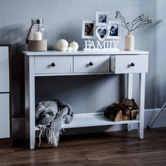 Berkshire Console Table - White console table - 3 Drawers