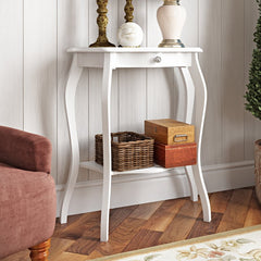 Brekan Hill Console Table - White