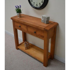 Upton Solid Oak Console Table