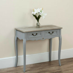 Charleston Console Table Grey & Pine | Buy From CONSOLE TABLES UK | FREE DELIVERY UK MAINLAND