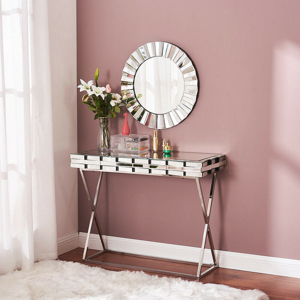 Akiva Mirrored Console Table