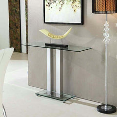 Glass & Chrome Console Table