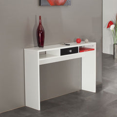 Arkim Console Table - White/Black