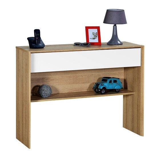 Euan Wooden Console Table - White Front