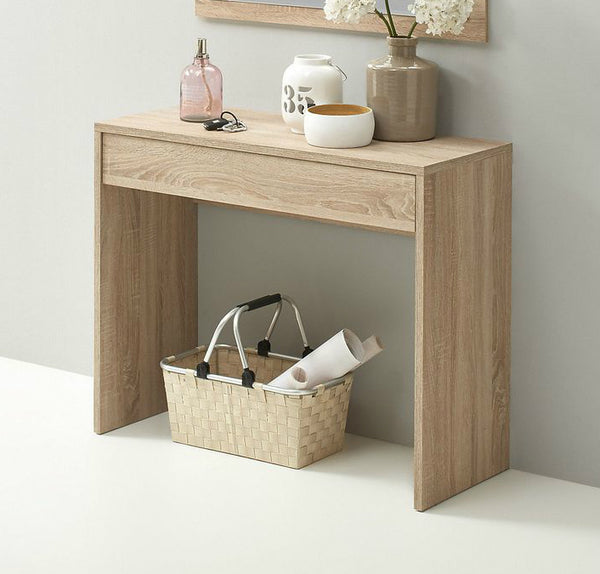 Washed Oak Console Table