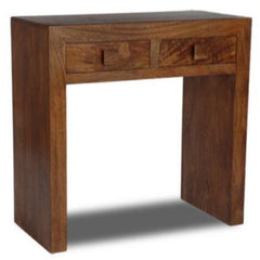 Panama Solid Mango Wood Console Table - Dark