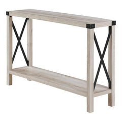 Amani Console Table 1 Shelf White Oak | Buy From CONSOLE TABLES UK - FREE DELIVERY UK Mainland