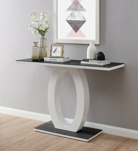 Vandalia High Gloss Console Table - Black