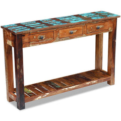 Eton Console Table - Solid Reclaimed Wood
