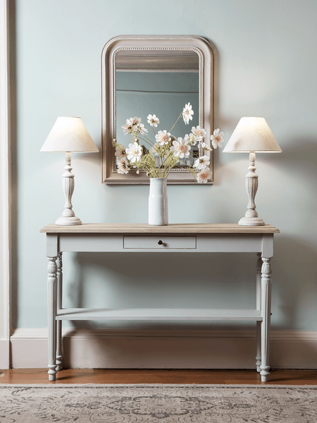 Biata Grey Console Table With Drawer