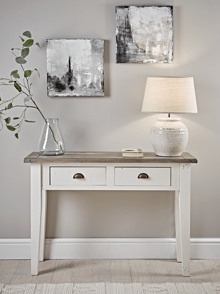 Derby White Console Table With Drawers