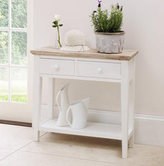 Elias Console Table - White console table