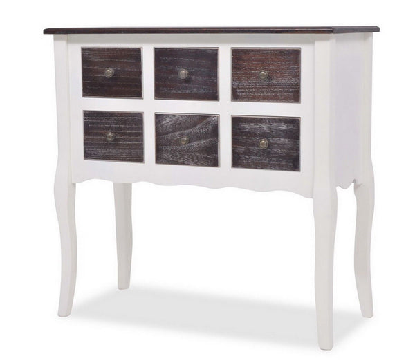 Bianco Console Table - 6 Drawers