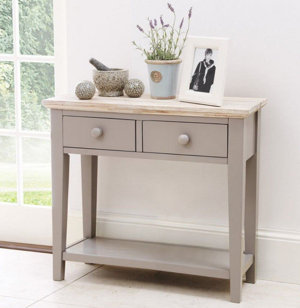 Elias Console Table - Dove Grey