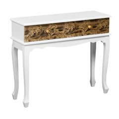Embossed Design Console Table With 2 Drawers
