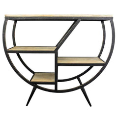 Retro Half Moon Console Table