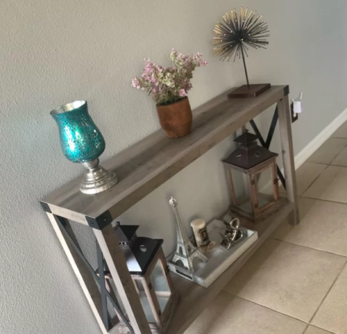 Hobart Industrial Console Table - Grey Wash