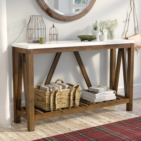 Rayna Console Table - White Walnut